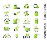 eco icon. ecology vector design ... | Shutterstock .eps vector #1989010532