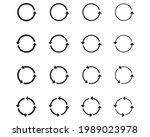 16 arrow pictogram refresh... | Shutterstock .eps vector #1989023978