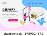 delivery order illustration  a...   Shutterstock .eps vector #1989024872