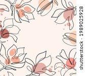 hand drawn magnolia flower.... | Shutterstock .eps vector #1989025928