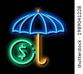 umbrella with color sectors... | Shutterstock .eps vector #1989041228