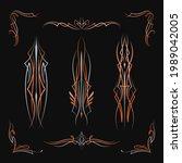 pinstriping art old school... | Shutterstock .eps vector #1989042005