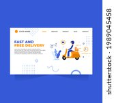 fast and free delivery flat... | Shutterstock .eps vector #1989045458