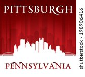 Pittsburgh Pennsylvania city skyline silhouette. Vector illustration