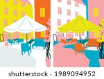 travel to europe vector.... | Shutterstock .eps vector #1989094952