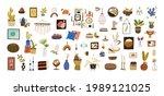 set of modern home decor for... | Shutterstock .eps vector #1989121025