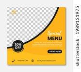 food social media post design... | Shutterstock .eps vector #1989131975