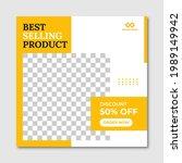 modern furniture sale banner... | Shutterstock .eps vector #1989149942