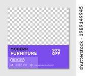 modern furniture sale banner... | Shutterstock .eps vector #1989149945