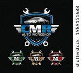 cmr auto workshop logo.... | Shutterstock .eps vector #1989151688