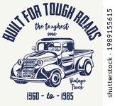 built for tough roads vintage... | Shutterstock .eps vector #1989155615