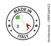 made in italy icon. stamp made... | Shutterstock .eps vector #1989166412