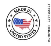 made in the usa icon. stamp... | Shutterstock .eps vector #1989166835