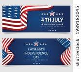 4th of july banner vector... | Shutterstock .eps vector #1989182045