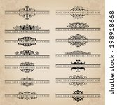 large collection of ornate... | Shutterstock .eps vector #198918668