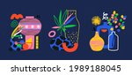 trendy pottery and ceramic...   Shutterstock .eps vector #1989188045