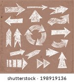 sketch arrow collection on... | Shutterstock .eps vector #198919136