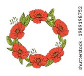 Wreath With Red Poppies With...