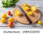 Various Colorful Ripe Tomato On ...