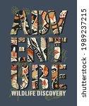 wildlife discovery adventure... | Shutterstock .eps vector #1989237215
