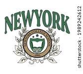 college new york school varsity ...   Shutterstock .eps vector #1989242612