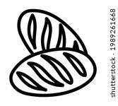bread icon. bold outline design ...