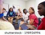 high school students taking... | Shutterstock . vector #198926996