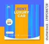 rent car for social media... | Shutterstock .eps vector #1989288728