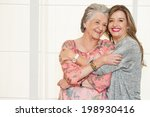 elder mother and daughter | Shutterstock . vector #198930416