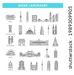 simple linear vector icon set... | Shutterstock .eps vector #1989309905