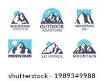 hand drawn mountain isolated. ...   Shutterstock . vector #1989349988