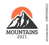 hand drawn mountain isolated. ...   Shutterstock . vector #1989350012