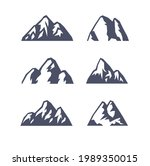 hand drawn mountain isolated. ...   Shutterstock . vector #1989350015