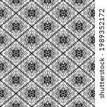 ethnic seamless black pattern.... | Shutterstock .eps vector #1989352172