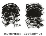 flat fan brush thick curved... | Shutterstock .eps vector #1989389405