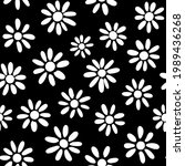 cute  ditsy daisies seamless...   Shutterstock .eps vector #1989436268