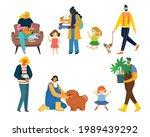 i love my family. cute vector... | Shutterstock .eps vector #1989439292