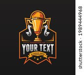 trophy vector mascot logo... | Shutterstock .eps vector #1989444968