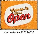 retro typography. vintage metal ... | Shutterstock .eps vector #198944636