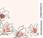 hand drawn magnolia flower.... | Shutterstock .eps vector #1989449075