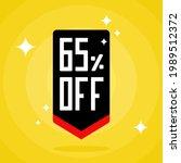 65  sales discount arrow. sixty ...   Shutterstock .eps vector #1989512372