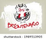cool bicentenary peruvian seal...   Shutterstock .eps vector #1989513905