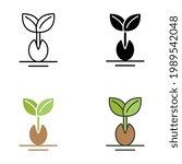 seedling  germination  growing...   Shutterstock .eps vector #1989542048