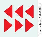 red arrow icon vector eps  10 | Shutterstock .eps vector #1989548048