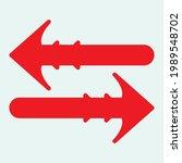 red arrow icon vector eps  10 | Shutterstock .eps vector #1989548702