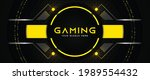 futuristic black and yellow...   Shutterstock .eps vector #1989554432