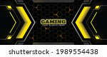 futuristic black and yellow...   Shutterstock .eps vector #1989554438