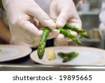 preparation of an asparagus on... | Shutterstock . vector #19895665
