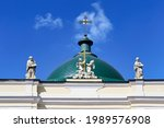 Green Dome With A Cross And A...