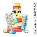 fun medicine. illustration for...   Shutterstock .eps vector #1989585542